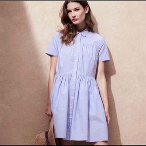 KATE SPADE Stripe Cotton Poplin Dress Size 2